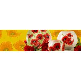 BASTELSETS / CRAFT KITS Håndværkssæt: dekoration med glade og farverige valmuer.