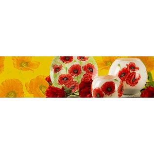 BASTELSETS / CRAFT KITS Bastelpackung: Deko mit fröhlichen und bunten Mohnblumen.