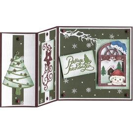 Precious Marieke Frimærkesæt: vindue med vinterdekorationer