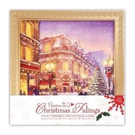 Docrafts / Papermania / Urban Kit artigianale, cartolina di Natale di lusso 3D