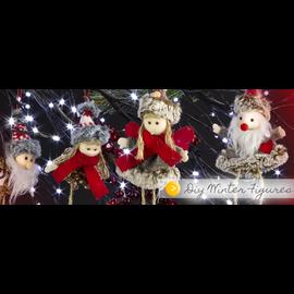 BASTELSETS / CRAFT KITS Bastelset: lindas figuras de invierno, decoración de invierno, decoraciones navideñas, decoración en selección