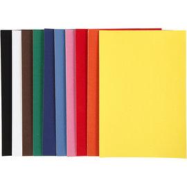 Karten und Scrapbooking Papier, Papier blöcke Velourspapier, A4 21x30 cm, 140 g, sortierte Farben, 10 Blatt