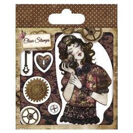 Stempel / Stamp: Transparent Gjennomsiktig stempel, Santoro Willow