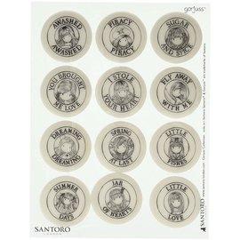 Gorjuss / Santoro 12 rubber stamps, Santoro / Gorjuss