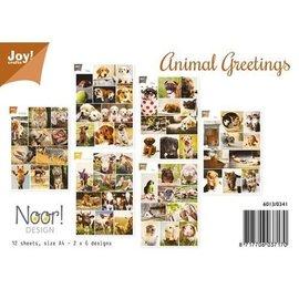 Joy!Crafts / Jeanine´s Art, Hobby Solutions Dies /  NOUVEAU! Feuille de motif A4 thème animaux - Afrique, chiens, chats, oiseaux, lapins, ferme