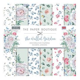 """Karten und Scrapbooking Papier, Papier blöcke NUEVO! ¡Bloque de papel, 20,5 x 20,5 cm, de la colección """"Walled Garden""""! Para el diseño en tarjetas, álbumes de recortes, collage, decoupage y mucho más."""