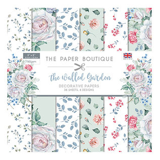 "Karten und Scrapbooking Papier, Papier blöcke NEW! Paper block, 20.5 x 20.5cm, from the ""Walled Garden"" collection! For design on cards, scrapbooking, collage, decoupage and much more"