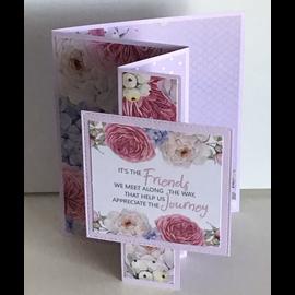 """Karten und Scrapbooking Papier, Papier blöcke NUOVO! Blocco di carta, 20,5 x 20,5 cm + 32 toppers (perforato)! dalla collezione """"Springtimes Blooms"""""""