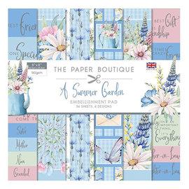 Karten und Scrapbooking Papier, Papier blöcke NUEVO! Bloque de papel, adornos de jardín de verano, 36 hojas, diseños 6x6, 20 x 20 cm, 160/300 gsm + 32 adornos.