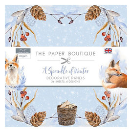 Karten und Scrapbooking Papier, Papier blöcke NEW! Paper block, A Sprinkle of Winter, 36 sheets, 6x6 designs, 20 x 20 cm, 160 gsm