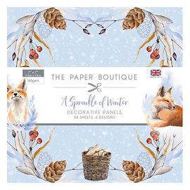 Karten und Scrapbooking Papier, Papier blöcke NOUVEAU! Bloc de papier, A Sprinkle of Winter, 36 feuilles, motifs 6x6, 20 x 20 cm, 160 g / m2