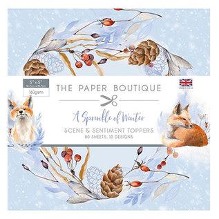 Karten und Scrapbooking Papier, Papier blöcke NEU! Papierblock, A Sprinkle of Winter, 80 Blatt,  13  x 13 cm, 160  gsm