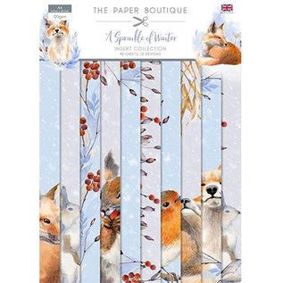 Karten und Scrapbooking Papier, Papier blöcke NEU! Papierblock, A4, 120 gsm, 40 Blatt,  A Sprinkle of Winter Insert Kollektion