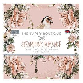 Karten und Scrapbooking Papier, Papier blöcke NUEVO! Bloque de papel, steampunk romance, 80 hojas, 13 x 13 cm, 160 g / m2