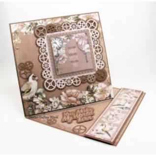 Karten und Scrapbooking Papier, Papier blöcke NIEUW! Papierblok, steampunk romantiek, 80 vellen, 13 x 13 cm, 160 g / m2