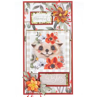 Karten und Scrapbooking Papier, Papier blöcke NOUVEAU! Bloc de papier, A4, 120 g / m2, 40 feuilles, collection Happy Days
