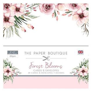 Karten und Scrapbooking Papier, Papier blöcke Nuevo! Un gran SET, Forest Blooms, 20 tarjetas de diseño + sobres, 20,3 x 20,3 cm, 4 diseños cada uno, 300 g / m2