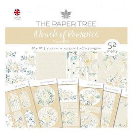 Karten und Scrapbooking Papier, Papier blöcke NY! SET papirblokk, romantikk, 52 ark, 6x6 design, 20 x 20 cm, 160/300 gsm + 32 toppers!