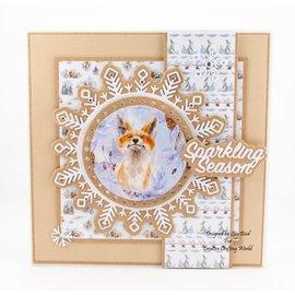 Karten und Scrapbooking Papier, Papier blöcke NOUVEAU! Bloc de papier, A4, 120 g / m2, 40 feuilles, une collection d'inserts A Sprinkle of Winter