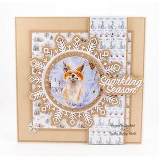 Karten und Scrapbooking Papier, Papier blöcke NIEUW! Papierblok, A Sprinkle of Winter, 80 vellen, 13 x 13 cm, 160 g / m2