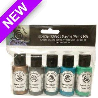 FARBE / MEDIA FLUID / MIXED MEDIA Cosmic shimmer, 5 flacons de 30 ml, kit de peinture effets spéciaux patine