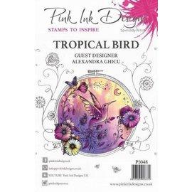 CREATIVE EXPRESSIONS und COUTURE CREATIONS Disegni di inchiostro rosa, francobolli, A5, uccello magicamente bello!