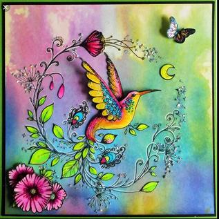 CREATIVE EXPRESSIONS und COUTURE CREATIONS Pink Ink Designs, Stempel, A5, Vogel  zauberhaft schön