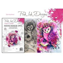 CREATIVE EXPRESSIONS und COUTURE CREATIONS Rosa blekkdesign, frimerker, A5, midtsommerugle, magisk vakker!