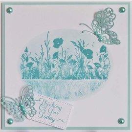 CREATIVE EXPRESSIONS und COUTURE CREATIONS Timbro, prati con fiori,