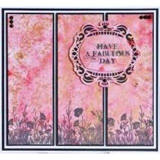 CREATIVE EXPRESSIONS und COUTURE CREATIONS Rubberzegel, weiden met bloemen