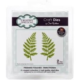 CREATIVE EXPRESSIONS und COUTURE CREATIONS cutting dies, Finishing Touches Collection Fern Fronds