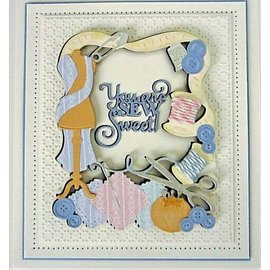 CREATIVE EXPRESSIONS und COUTURE CREATIONS Stanseskabelon,  Sew Sweet,  3pcs / 10.6 x 13.2cm