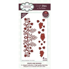 CREATIVE EXPRESSIONS und COUTURE CREATIONS cutting dies, grape vine Border