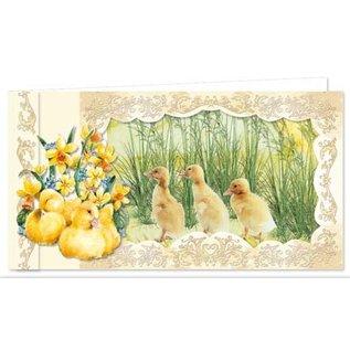 BASTELSETS / CRAFT KITS Ensemble complet pour 9 jolies cartes de Pâques vintage!