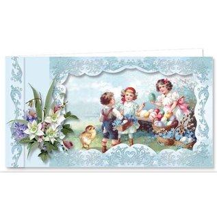 BASTELSETS / CRAFT KITS ¡Juego completo para 9 bonitas tarjetas de Pascua vintage!