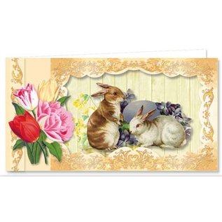 BASTELSETS / CRAFT KITS Complete set for 9 pretty vintage Easter cards!