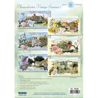 BASTELSETS / CRAFT KITS Ein wunderschönes Bastelset für 6 Vintage Blumenkarten + Umschläge!