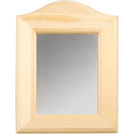 Holz, MDF, Pappe, Objekten zum Dekorieren 1 Deko Spiegel zum Dekorieren, Größe 19 x 27 x 1,5 cm