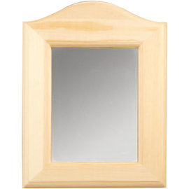Holz, MDF, Pappe, Objekten zum Dekorieren 1 specchio decorativo per decorare, dimensioni 19 x 27 x 1,5 cm