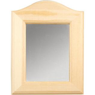 Holz, MDF, Pappe, Objekten zum Dekorieren 1 decoratieve spiegel voor decoratie, maat 19 x 27 x 1,5 cm