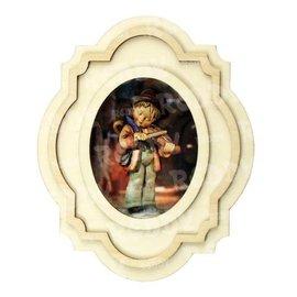 Holz, MDF, Pappe, Objekten zum Dekorieren 1 Bausatz für 3D Holzbilderrahmen, Oval