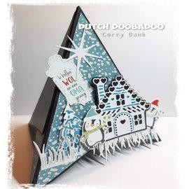 """Dutch DooBaDoo A4, pop-up, art template, """"Card Art Teepee"""""""