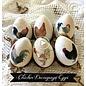 Objekten zum Dekorieren / objects for decorating 3 polystyrene eggs, h 8 cm, 10 cm and 12 cm, white