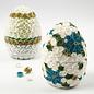 Holz, MDF, Pappe, Objekten zum Dekorieren 1 two-part egg, H 12 cm, D: 9 cm