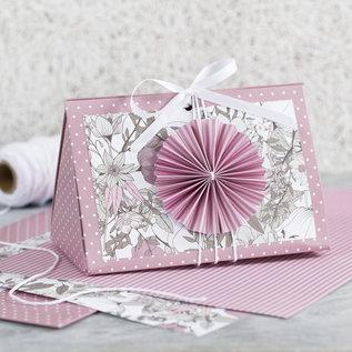 Karten und Scrapbooking Papier, Papier blöcke Wunderschönen Block mit Design-Papier, Größe 21x30 cm, 120+128 g, Braun, Beige, Weiß, Rosa, 24 Blatt!