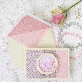 Karten und Scrapbooking Papier, Papier blöcke Esclusiva carta fatta a mano, A4 21x30 cm, 110 g, giardino fiorito, 20 fogli!