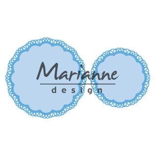 Marianne Design Snijmallen / Snijsjablonen , Doily duo, LR0592