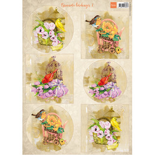 Marianne Design 2x A4 picture sheets, birds & birdcages