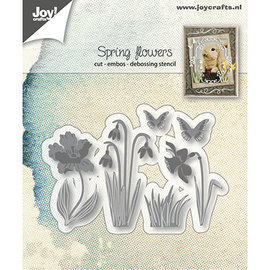 Joy!Crafts / Jeanine´s Art, Hobby Solutions Dies /  PUNCHING MODELLO, Flowers,  6002/1280