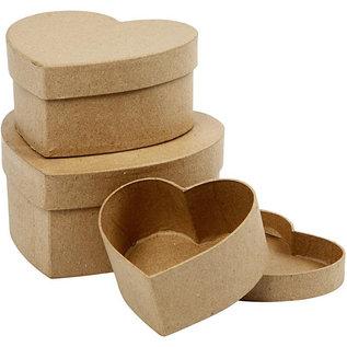 Holz, MDF, Pappe, Objekten zum Dekorieren PappArt,  Herz, Auswahl aus 3 Größe